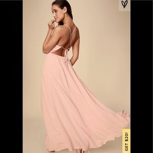 Like pink strappy back gown